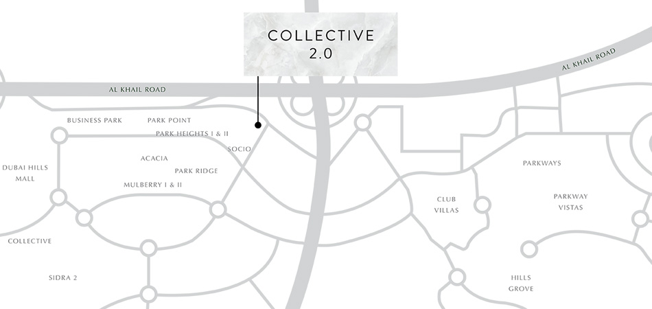 Collective 2.0 Apartments by Emaar Location